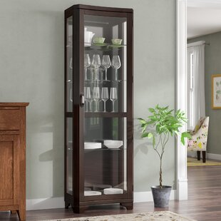 Three Posts Rockford Lighted Curio Cabinet
