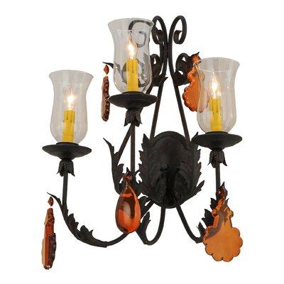Meyda Tiffany 3-Light Candle Wall Light