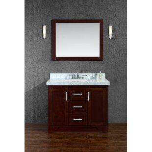 Misty 42 Single Bathroom Vanity Set with Mirror by Corrigan Studio