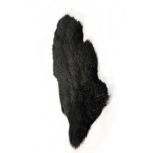 Single Sheepskin Black Rug by Ethnic Elements