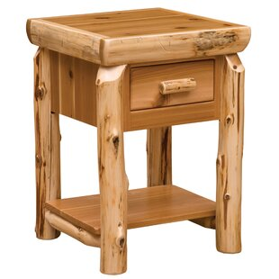 Savings Cedar 1 drawer Nightstand by Fireside Lodge