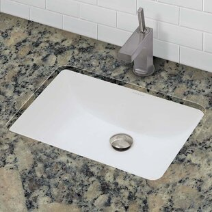 Classically Redefined Callensia Ceramic Rectangular Undermount Bathroom Sink with Overflow DECOLAV