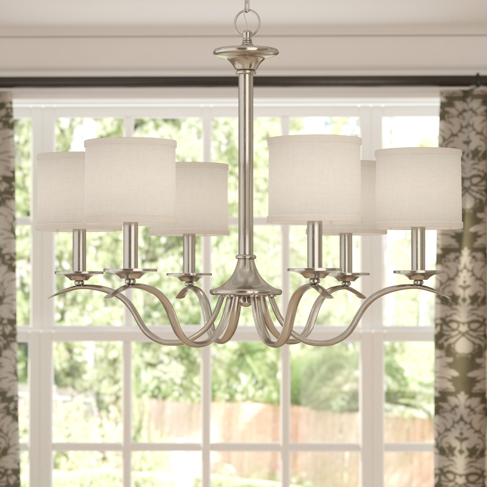 Andover Mills Mabini 6 Light Shaded Classic Traditional Chandelier Reviews Wayfair
