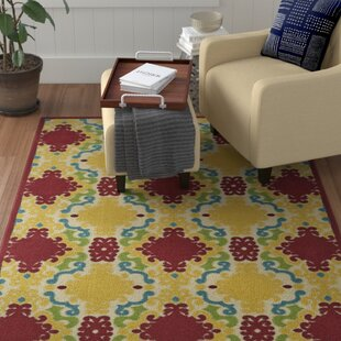 Lewis Yellow/Red Indoor/Outdoor Area Rug By Winston Porter