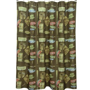 Buying Born to Fish Polyester Shower Curtain By Bacova Guild