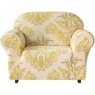 Spandex Stretchy Printed Box Cushion Armchair Slipcover By Rosalind Wheeler