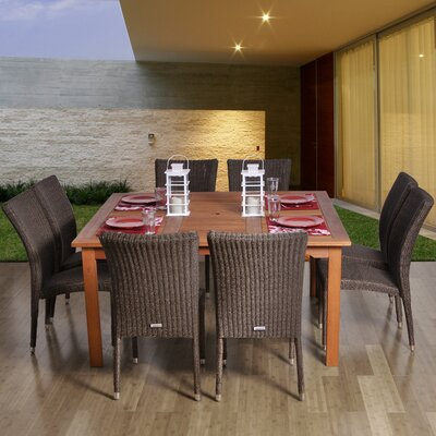 Fairfield International Home Outdoor 9 Piece Dining Set by Bayou Breeze Herry Up