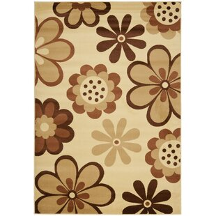 Great choice Rosario Ivory / Brown Contemporary Rug By Winston Porter
