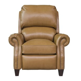 Leonard Leather Manual Recliner Darby Home Co