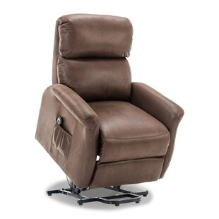 Winbush Classic Lift Power Recliner Soft and Warm Fabric with Remote Control for Gentle Motor