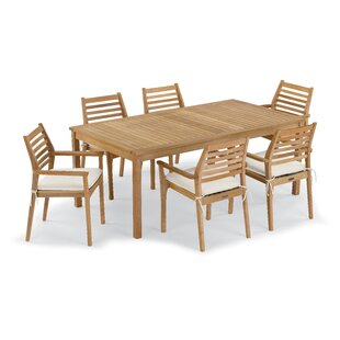 Crossland 7 Piece Dining Set with Cushions by Rosecliff Heights