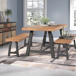 Lebanon 3 Piece Solid Wood Dining Set