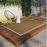 Samuel Diamond Maze Tan/Brown Indoor/Outdoor Area Rug