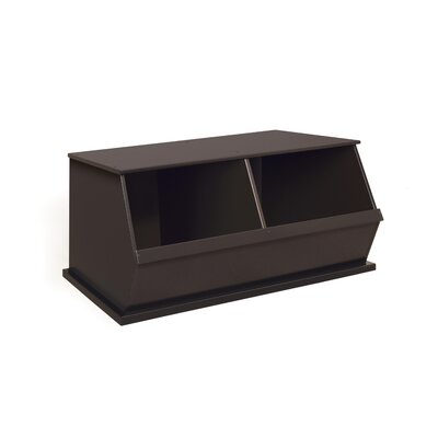 Viv + Rae Bridport Go-To Storage Cubby Toy Organizer Bins: 2, Finish: Espresso