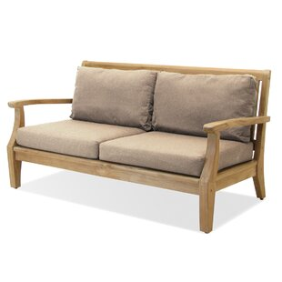 Miramar Teak Loveseat with Sunbrella Cushions by Forever Patio