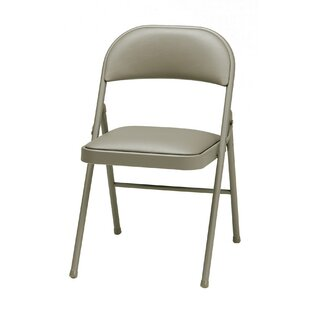 Read Reviews Deluxe Vinyl Padded Folding Chair (Set of 4) by MECO Corporation