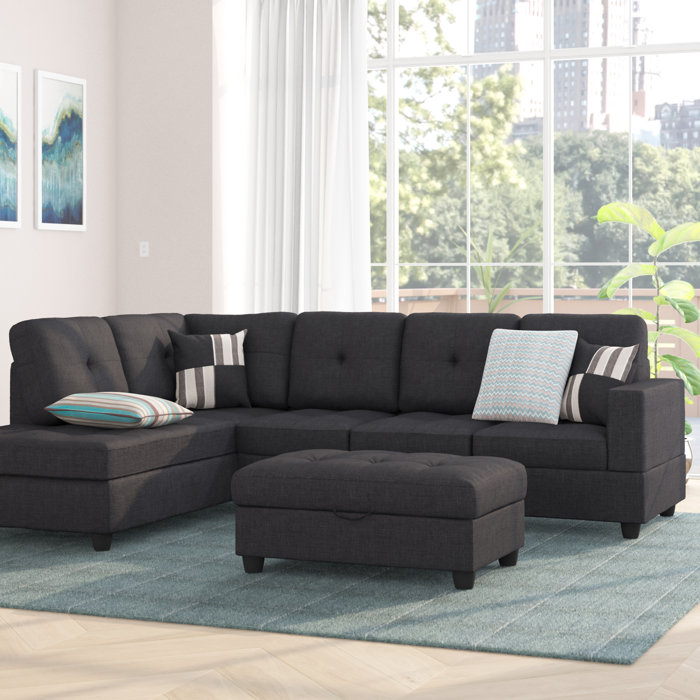Incredible Mauzy Left Hand Facing Sectional With Ottoman Gmtry Best Dining Table And Chair Ideas Images Gmtryco
