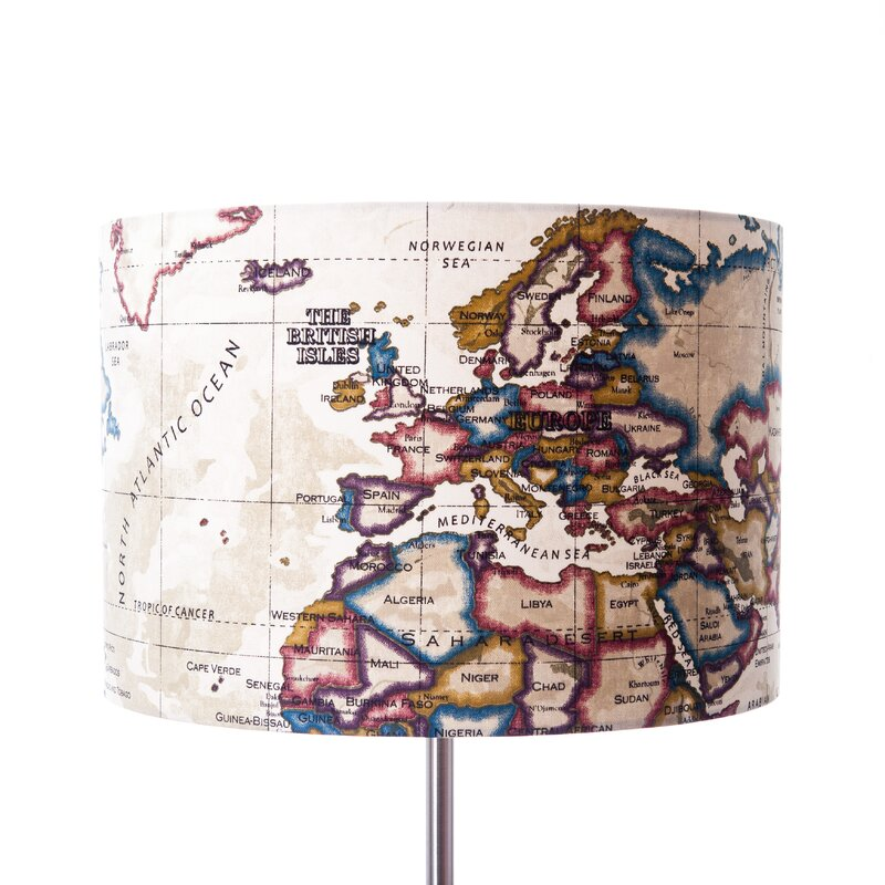 house additions 40 cm lampenschirm old world aus stoff. Black Bedroom Furniture Sets. Home Design Ideas