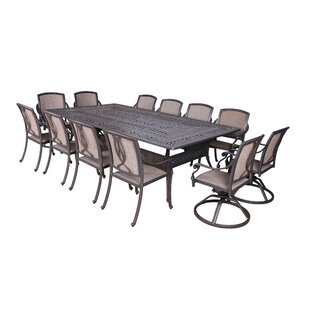Fleur De Lis Living Gunter 13 Piece Dining Set