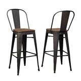 Bodner Solid Wood 27.95'' Bar Stool by 17 Stories