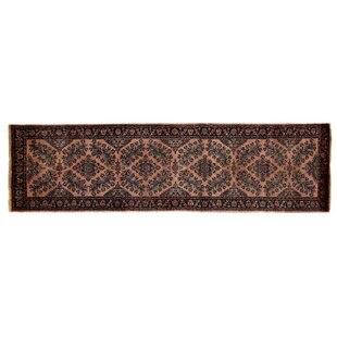 Order One-of-a-Kind Fine Indo Hand-Woven Wool Rust/Black Area Rug ByExquisite Rugs