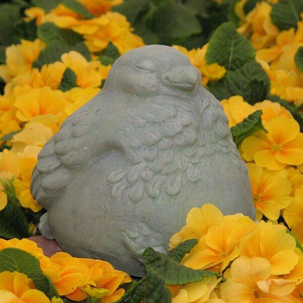 """4 SET Chubby Birds Garden Statue Bird Concrete Outdoor Decor 4/"""" NEW"""