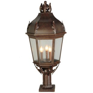Meyda Tiffany Royan Lantern 3-Light Pier Mount Light