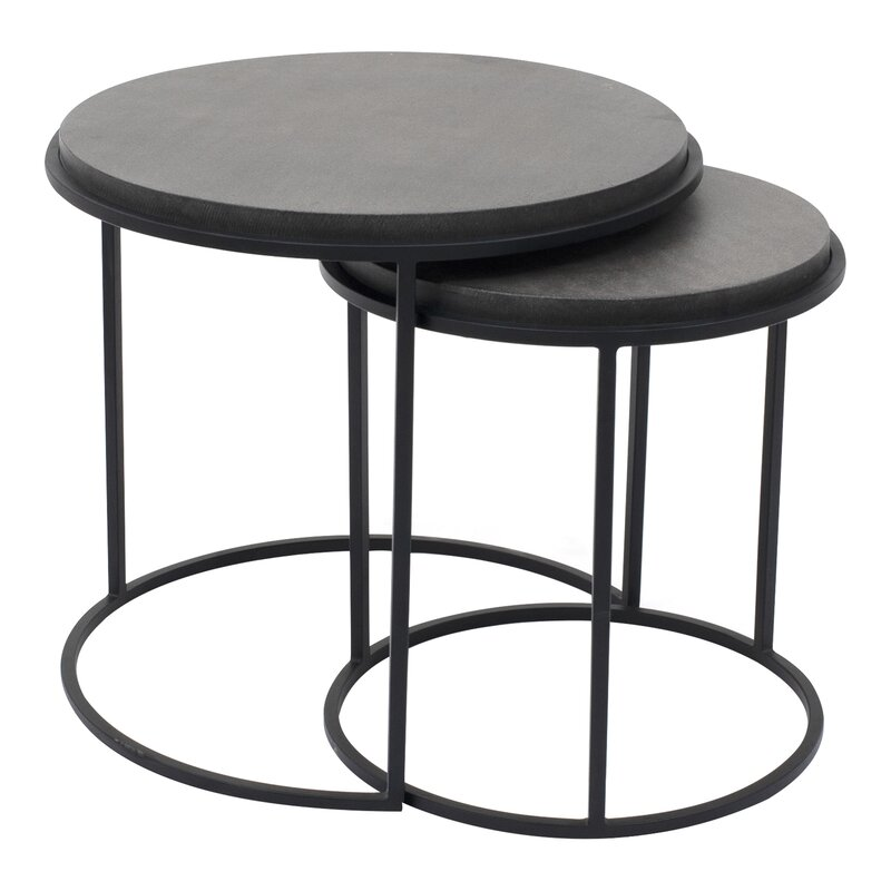 17 Stories  Finley 2 Piece Nesting Tables