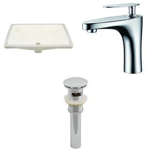 Great choice CUPC Ceramic Rectangular Undermount Bathroom Sink with Faucet and Overflow By Royal Purple Bath Kitchen