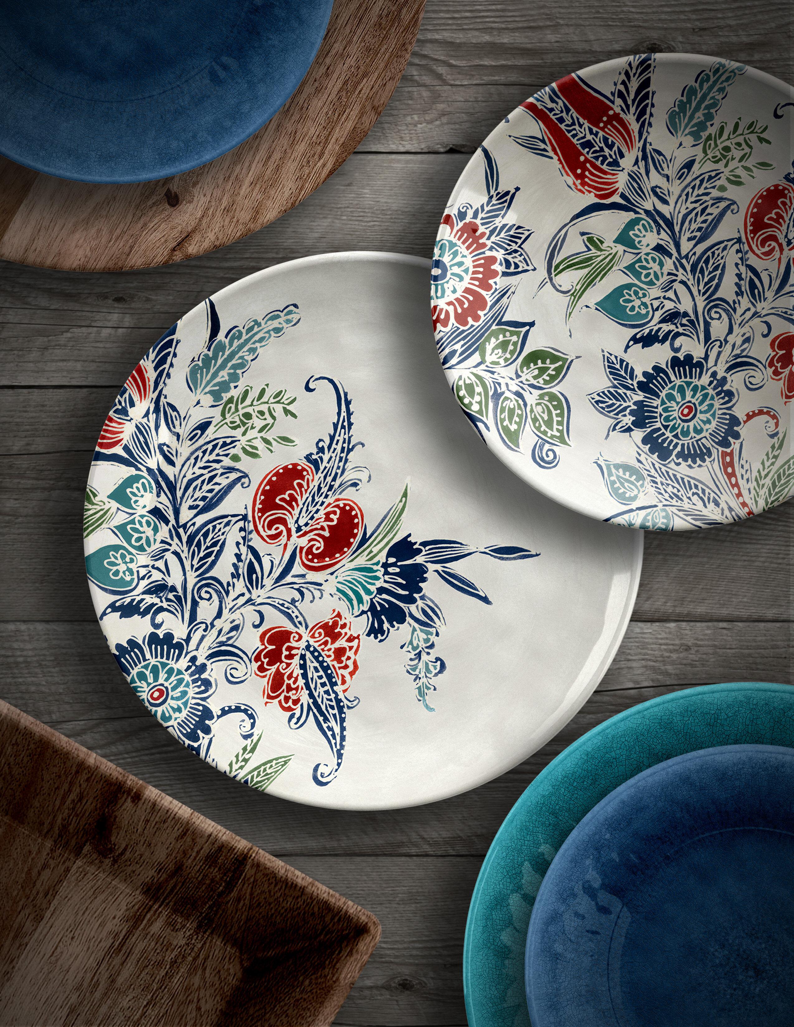 & Birch Lane™ Marietta Melamine Salad Plate | Birch Lane