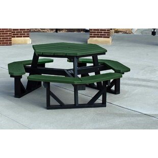 Recycled Plastic Picnic Tables Wayfair - Recycled plastic octagon picnic table