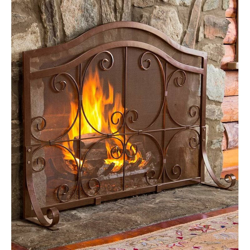 73e7d702799 Plow   Hearth Plow   Hearth Single Panel Iron Fireplace Screen   Reviews