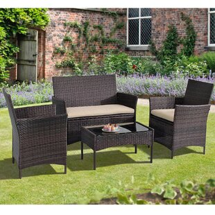 Ackman 4 Piece Rattan Sofa Seating Group