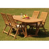 Korey 5 Piece Teak Dining Set