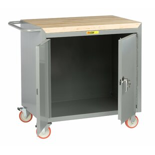 Mobile 42W Butcher Block Top Workbench by Little Giant USA