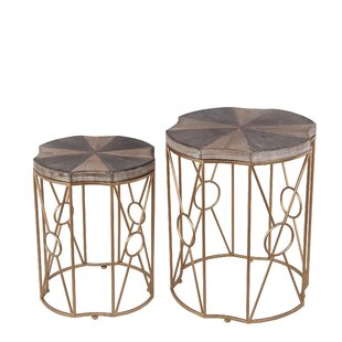 Jennings 2 Piece End Table Set by World Menagerie