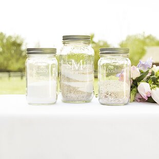 3 Piece Personalized Canning Jar Set