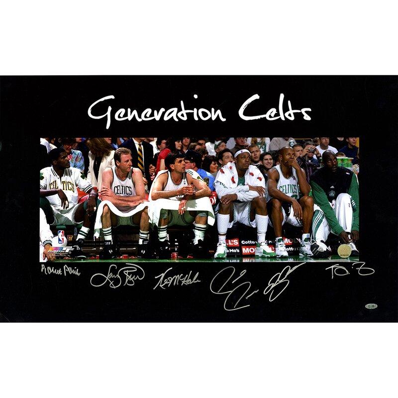7136b5ccc Steiner Sports Ray Allen Larry Bird Kevin Garnett Kevin McHale Robert Parish Paul  Pierce Generation Celts Multi Signed Graphic Art