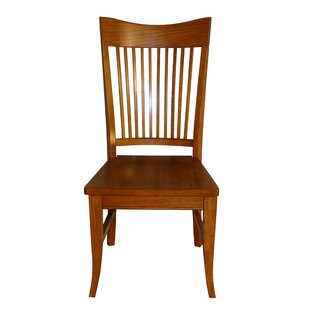 Tyrell Curved Spindle Back Solid Wood Dining Chair (Set of 2)