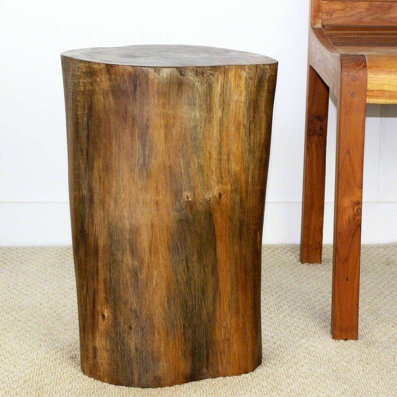 World Menagerie Dahlstrom Teak Stump Stool | Wayfair