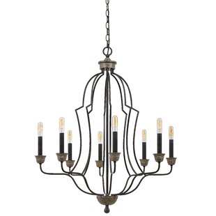 Gracie Oaks Quach 8-Light Candle Style Ch..