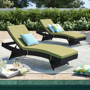 Brentwood Chaise Lounge with Cushion (Set of 2) by Sol 72 Outdoor