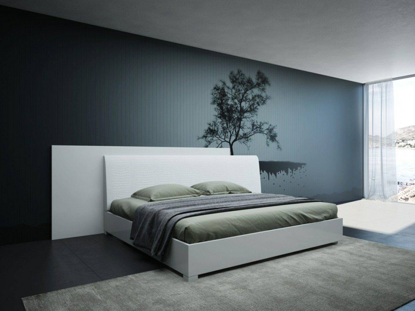 Orren Ellis Lucus Italian Modern Upholstered Platform Bed Wayfair