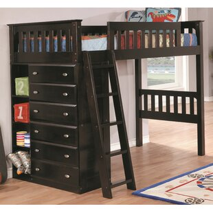 Basile Twin Loft Bed with Drawer