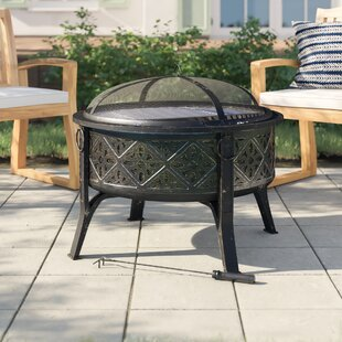 Danny Steel Wood Burning Fire Pit By Sol 72 Outdoor