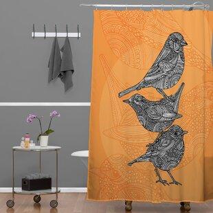 Renfro 3 Little Birds Single Shower Curtain by Bungalow Rose