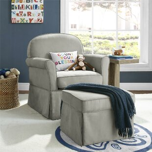 Polly Swivel Glider & Ottoman by Viv + Rae