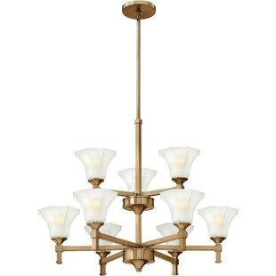 Latitude Run Priston 9-Light Shaded Chandelier