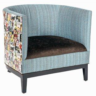 Loni M Designs Magazine Mixed Media Barrel Chair