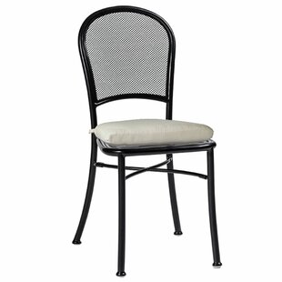 Cafe Stacking Patio Dining Chair with Cushion